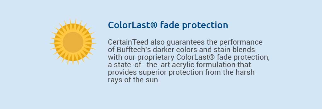 Colorlast® fade protection.